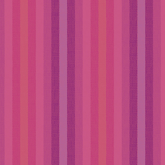 Kaleidoscope Stripes + Plaids - Stripe in Magenta - Alison Glass for Andover - WV-9540-MAGENTA - 1/2 Yard