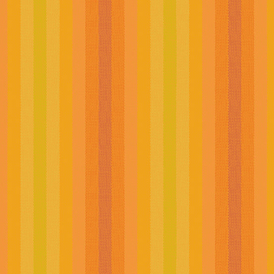 Kaleidoscope Stripes + Plaids - Stripe in Marmalade - Alison Glass for Andover - WV-9540-MARMALADE - 1/2 Yard