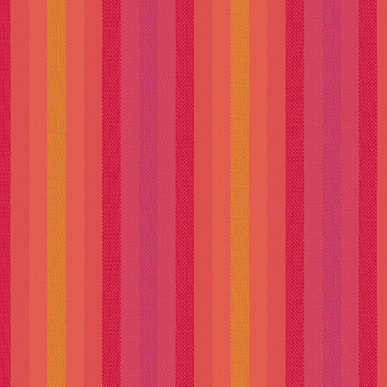 Kaleidoscope Stripes + Plaids - Stripe in Sunrise - Alison Glass for Andover - WV-9540-SUNRISE - 1/2 Yard