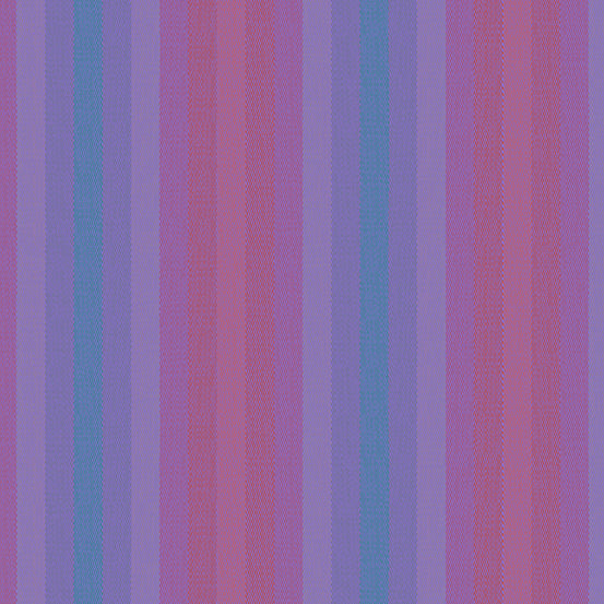 Kaleidoscope Stripes + Plaids - Stripe in Thistle - Alison Glass for Andover - WV-9540-THISTLE - 1/2 Yard