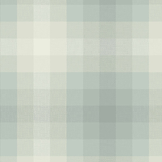 Kaleidoscope Stripes + Plaids - Plaid in Cloud - Alison Glass for Andover - WV-9541-CLOUD - 1/2 Yard