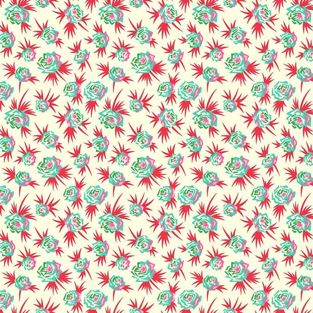 True Kisses - Ditsy Floral in Red - Heather Bailey for Figo Fabrics - 90366-11 - Half Yard
