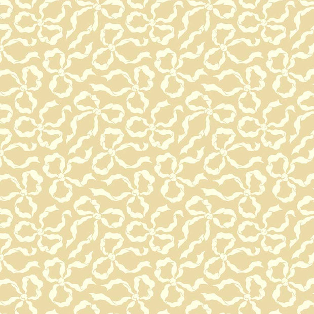 True Kisses - Ribbons in Sand - Heather Bailey for Figo Fabrics - 90369-14 - Half Yard