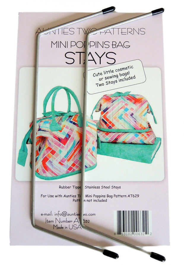 Mini Poppins Bags - Metal Stays - Aunties Two - AT632