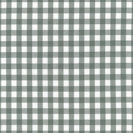 Kitchen Window Wovens - Plaid in Shale - Elizabeth Hartman for Robert Kaufman - AZH-17722-335 - Half Yard