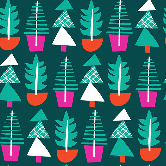 Handmade Holiday - Evergreens - PBS Fabrics - 120-21463 - Half YardHandmade Holiday - Evergreens - Ampersand Design Studio for PBS Fabrics - 120-21463 - Half Yard