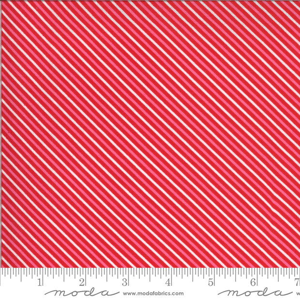 Be Mine - Candy Stripe in Kisses - Stacey Iest Hsu for Moda - 20716 14 - Half Yard