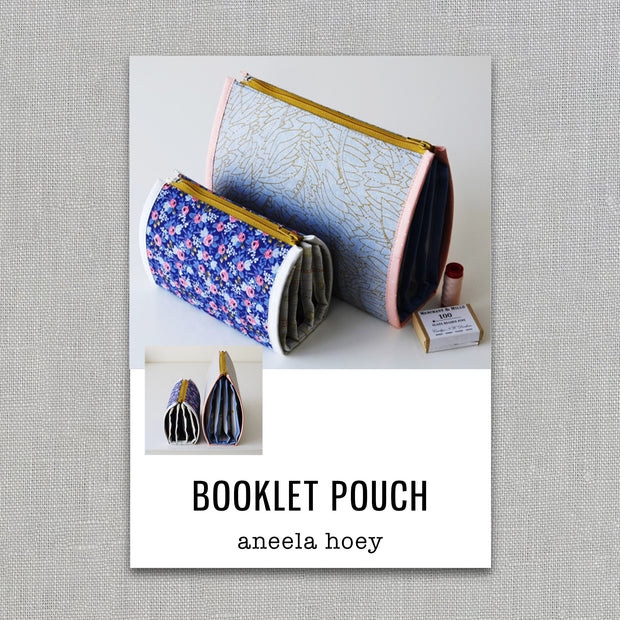 Booklet Pouch - Sewing Pattern - Aneela Hoey - Paper Pattern