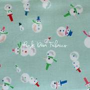 Way Up North - Snowman in Mint - Jill Howarth for Riley Blake - C7323-MINT - Half Yard