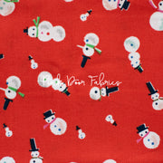 Way Up North - Snowman in Red - Jill Howarth for Riley Blake - C7323-RED - Half Yard