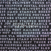 Christmas Delivery - Text in Black - Carta Bella Paper Co. for Riley Blake - C7335-BLACK - Half Yard
