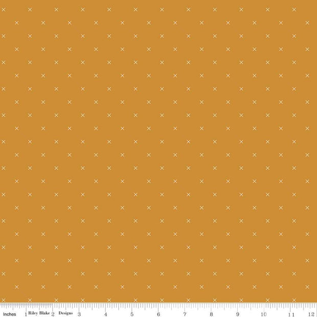 Bee Cross Stitch - Bee Cross Stitch in Butterscotch - Lori Holt for Riley Blake - C745-BUTTERSCOTCH - Half Yard
