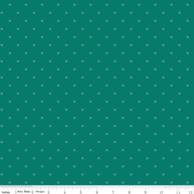 Bee Cross Stitch - Bee Cross Stitch in Jade - Lori Holt for Riley Blake - C745-JADE - Half Yard