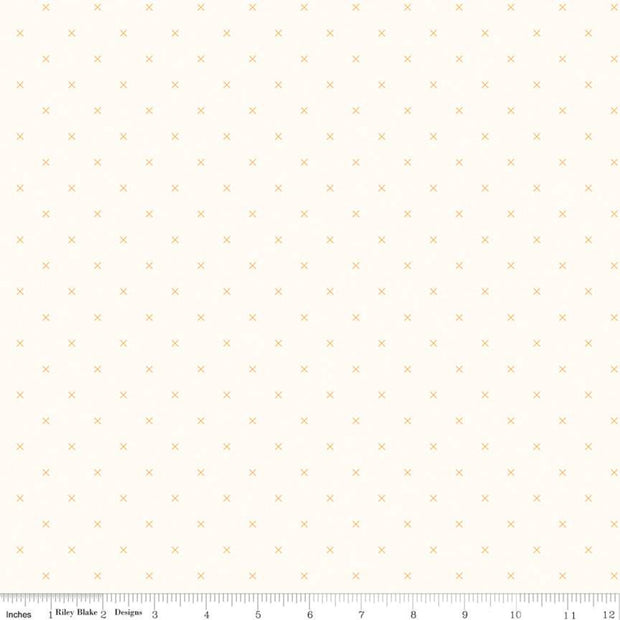 Bee Cross Stitch - Bee Cross Stitch in Daisy - Lori Holt for Riley Blake - C747-DAISY - Half Yard