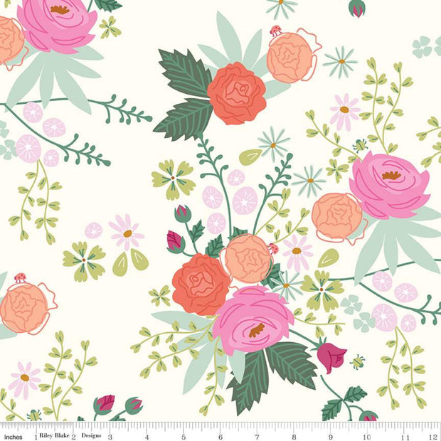 New Dawn - Main in Cream - Citrus & Mint Designs for Riley Blake - C9850-CREAM - Half Yard