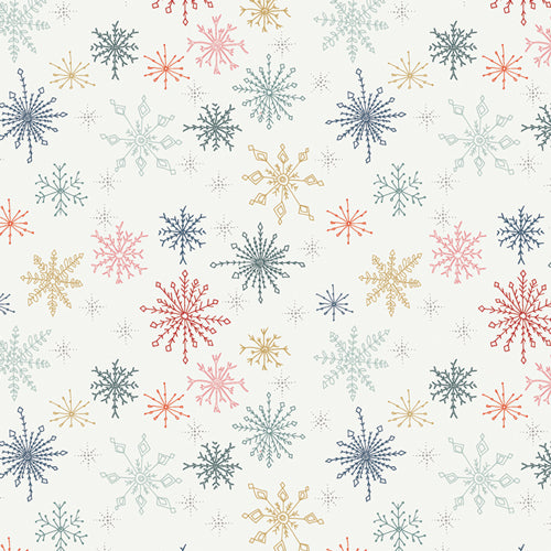 Cozy & Joyful - Make Snow Flurries - Maureen Cracknell for AGF - CJO-12591 - Half Yard