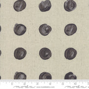 Chill Mochi Linen - Snowballs in Linen Charcoal - Zen Chic for Moda - 1717 12LM - Half Yard