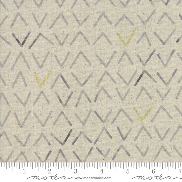 Chill Mochi Linen - Frost in Linen Charcoal - Zen Chic for Moda - 1719 12LM - Half Yard