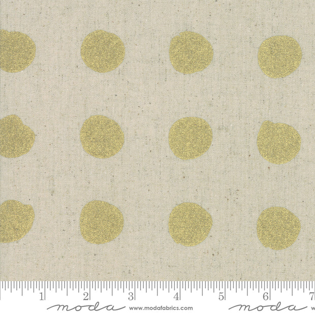 Chill Mochi Linen - Snowballs in Linen Gold - Zen Chic for Moda - 1717 13LM - Half Yard