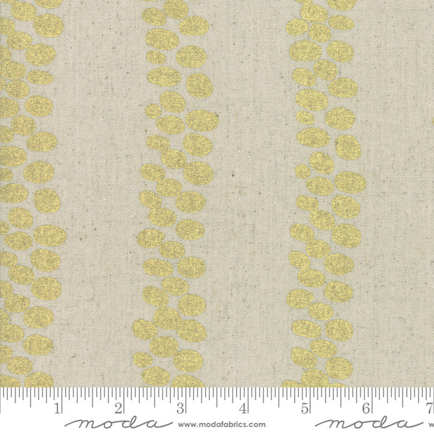 Chill Mochi Linen - Trails in Linen Gold - Zen Chic for Moda - 1718 13LM - Half Yard