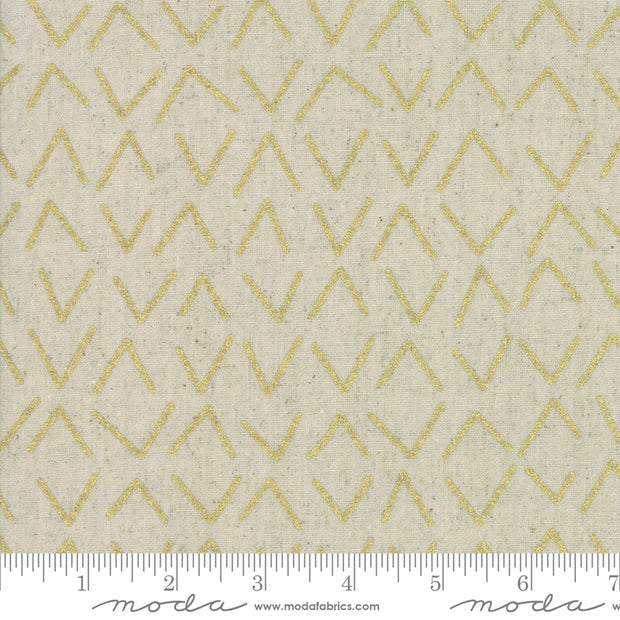 Chill Mochi Linen - Frost in Linen Gold - Zen Chic for Moda - 1719 13LM - Half Yard