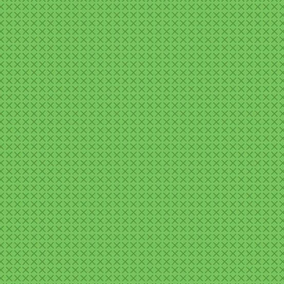 Cross Stitch - Cross Stitch in Green - Alison Glass for Andover - A-9254-G - Half Yard