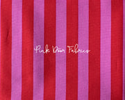 tula pink all stars stripe in peony pink