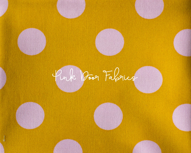 Tula Pink All Stars Pom Pom Dot in Marigold Yellow