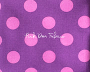 Tula Pink All Stars Pom Pom Dot in Foxglove Purple