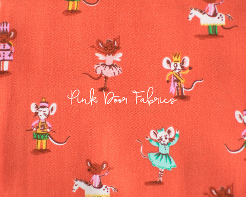 PRESALE - Trixie - Country Mouse in White - Heather Ross for Windham - 50897-4 - Half Yard