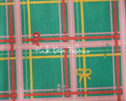 Heather Ross, Sugarplum, Plaid in Aqua Blue, 50168-8