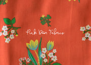 Kinder - Spring Blooms in Red - Heather Ross for Windham Fabrics - 43482-2 - 1/2 yard