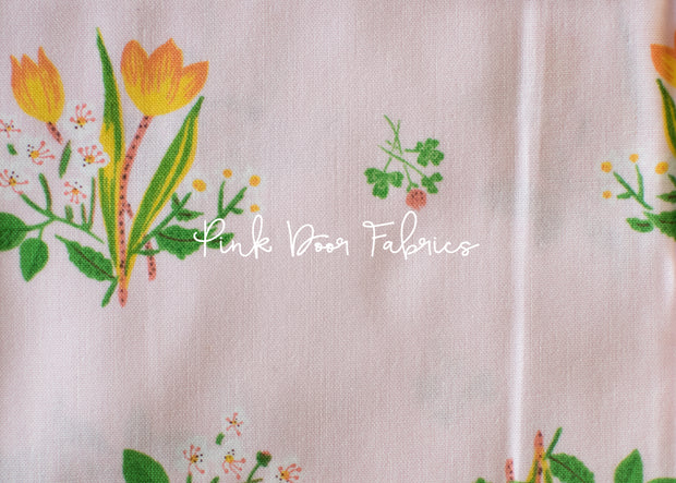 Kinder - Spring Blooms in Pink - Heather Ross for Windham Fabrics - 43482-1 - 1/2 yard