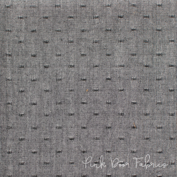 Manchester - Stitch Dot in Black - PRF-586 - Half Yard