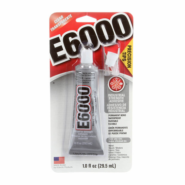 E6000 Adhesive Non-Flame Glue 1oz With Precision Tip