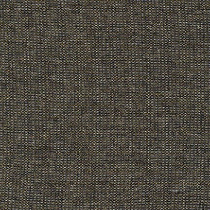 Essex Linen - Metallic in Black - Robert Kaufman Fabrics - E105-1019 - Half Yard