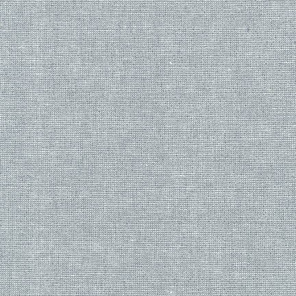 Essex Linen - Metallic in Fog - Robert Kaufman Fabrics - E105-444 - Half Yard