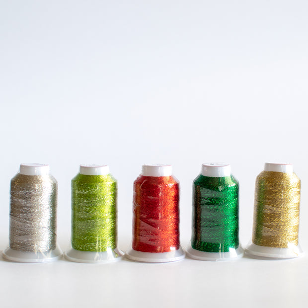 Wonderfil - Glamore Fun Christmas Thread Kit - 5 spools - 300m ea.