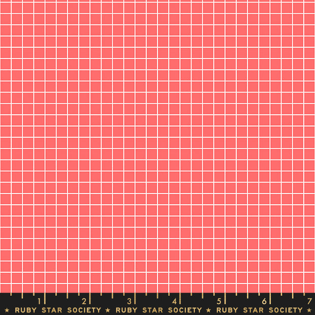 Anagram - Grid in Strawberry - Kimberly Kight for Ruby Star Society - RS3005 14 - Half Yard