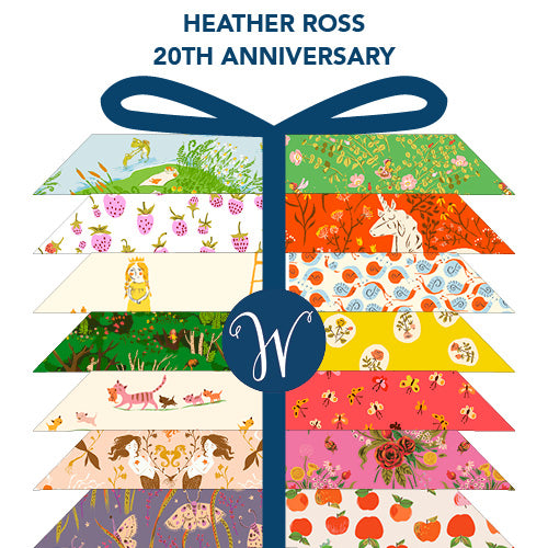 Heather Ross 20th Anniversary - Half Yard Bundle of 21 - Heather Ross for Windham - H20HALF-X