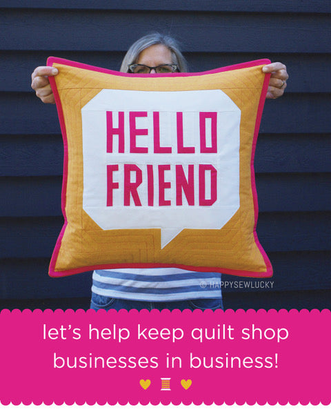 Hello Friend - Pattern by Happy Sew Lucky - PDF Pattern