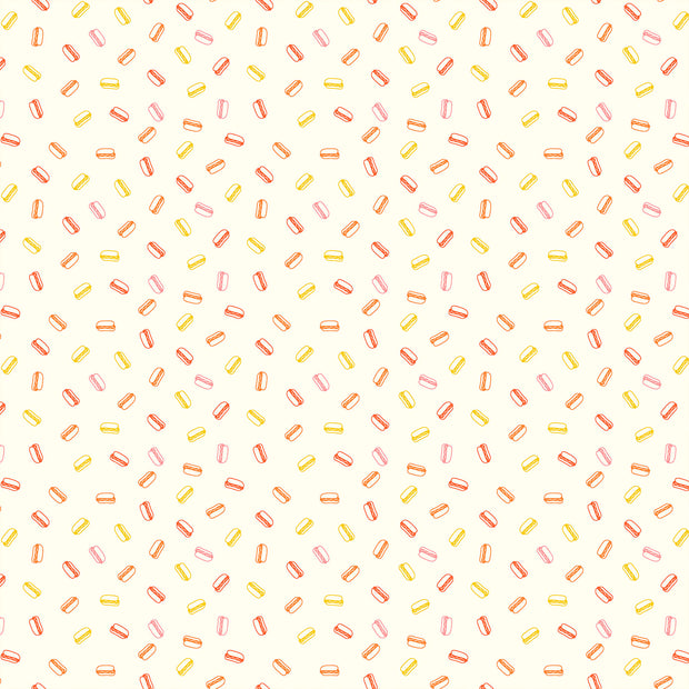 Squeeze - Hot Dogs in Sunrise - Figo Fabrics - 90302-10 - Half Yard