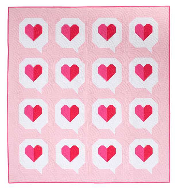 I Heart You - Pen + Paper Patterns - Quilt Pattern - Paper Pattern