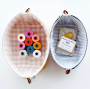 Aneela Hoey - Zippered Basket Pouch - Paper Pattern - HOEY_ZIPBASK