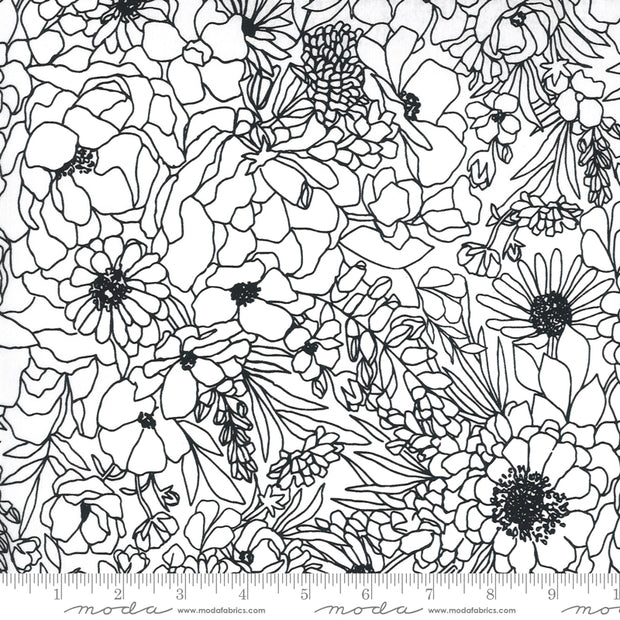 Illustrations - Modern Florals in Paper - Alli K Design - 11501-11C - Half Yard