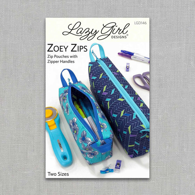 Zoey Zips - Paper Pattern - Lazy Girl Designs - LGD146