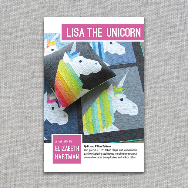 Lisa the Unicorn - Quilt Pattern - Elizabeth Hartman - Paper Pattern
