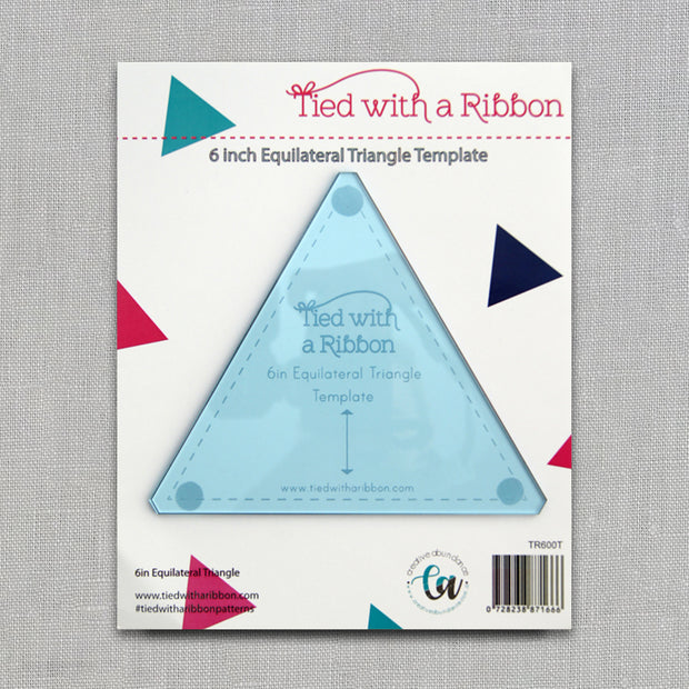 Love Triangle - 6 in. Equilateral Triangle Template - Tied With a Ribbon - Acrylic Template