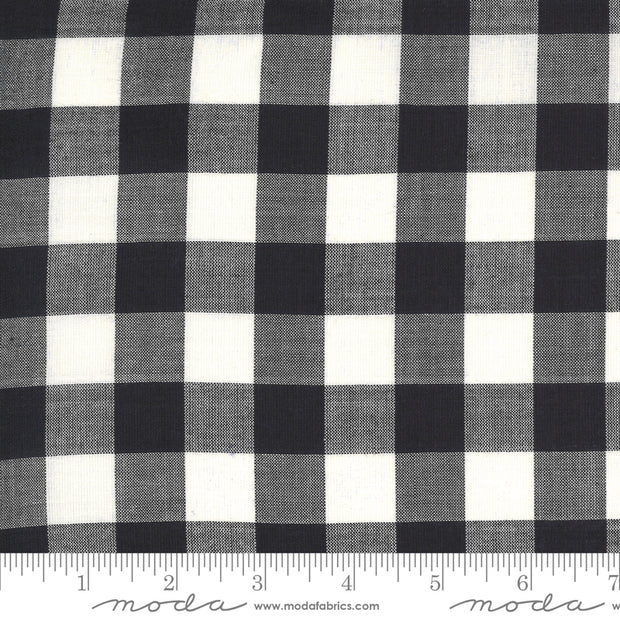 Low Volume Wovens - Big Check in Charcoal - Jen Kingwell for Moda Fabrics - 18201-23 - Half Yard