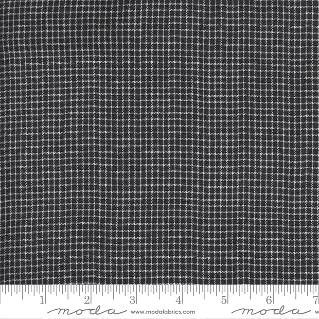 Low Volume Wovens - Small Check in Charcoal - Jen Kingwell for Moda Fabrics - 18201-28 - Half Yard